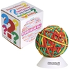 LL596s - Multicolour Rubberband Ball with White Stand